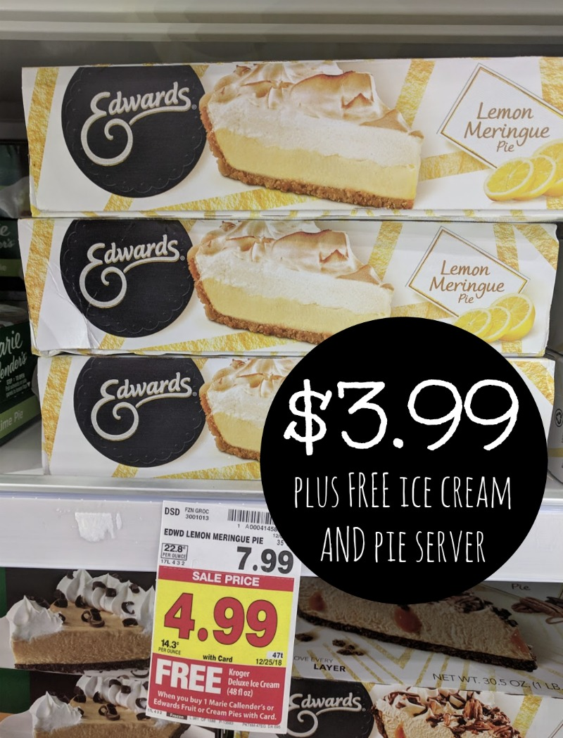 photo regarding Edwards Pies Printable Coupons titled Edwards Pies As Reduced As $3.99 At Kroger + Absolutely free Ice Product And