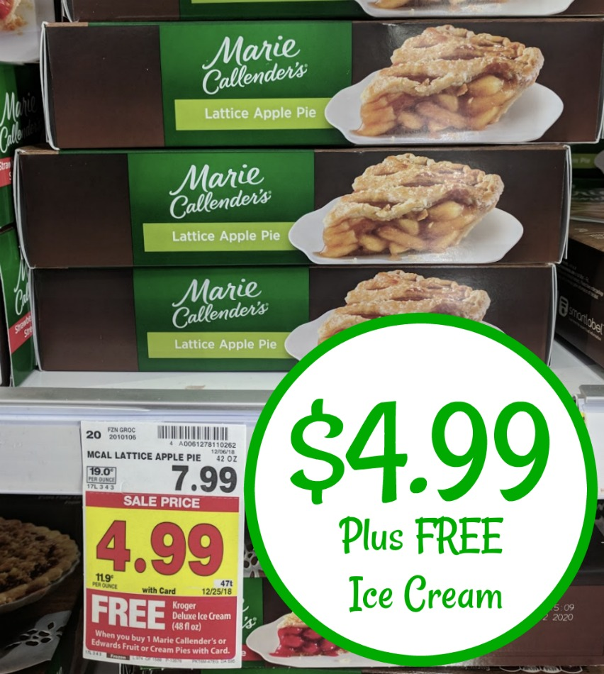 photograph about Marie Callender Coupons Printable referred to as Marie Callenders Pies $4.99 At Kroger + Totally free Ice Product