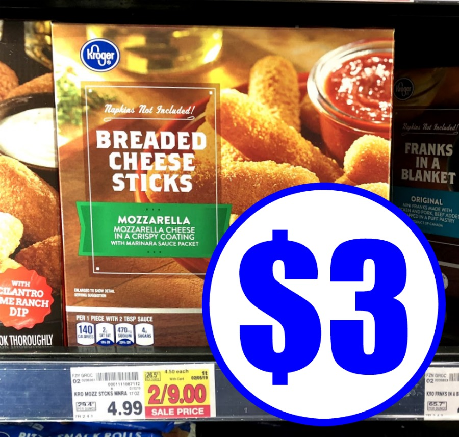 Pick Up Kroger Breaded Cheese Sticks For Just $3