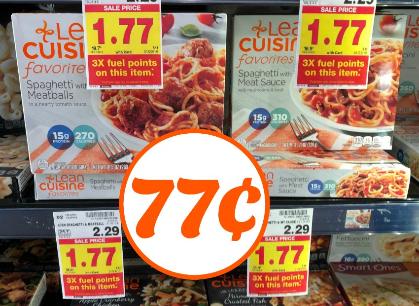 graphic regarding Lean Cuisine Coupons Printable identified as Lean Delicacies Foodstuff Particularly 77¢ Each individual At Kroger