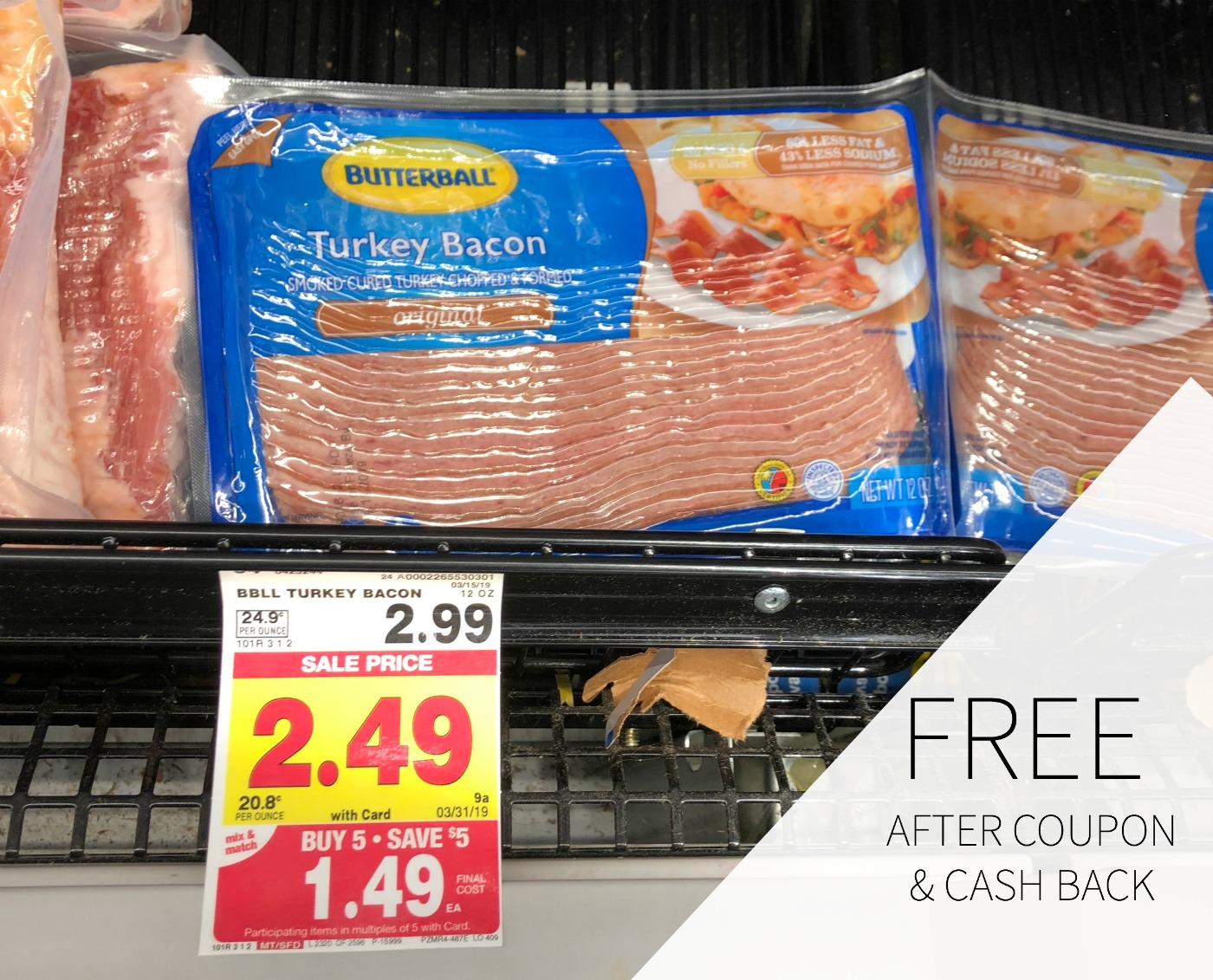 Butterball Bacon As Low As FREE At Kroger