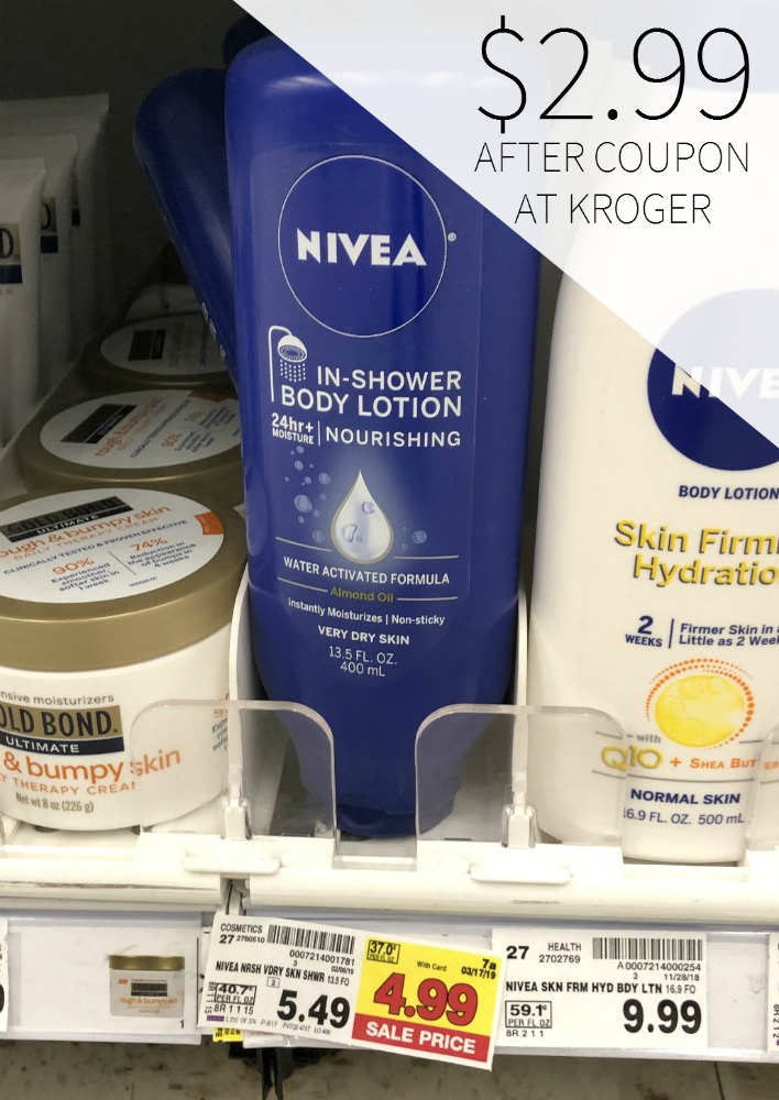 graphic relating to 3.00 Off Nivea Printable Coupon called Nivea Discount codes I Center Kroger