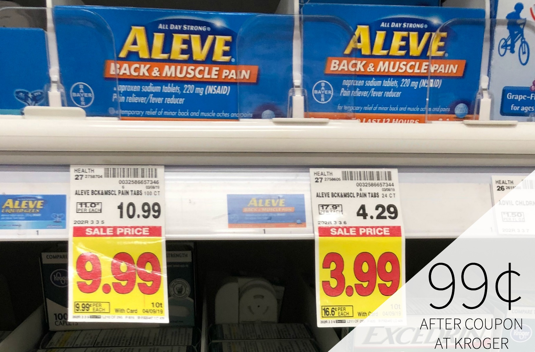 Aleve Back & Muscle Pain Just 99¢ At Kroger
