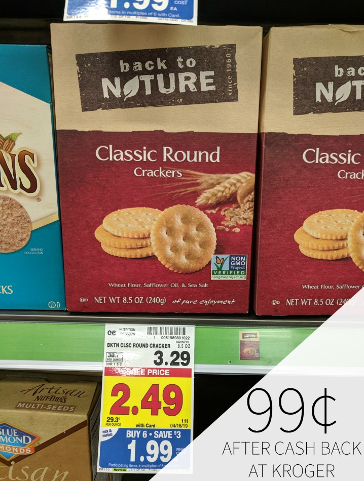 Back To Nature Crackers Just 99¢ During The Kroger Mega Sale