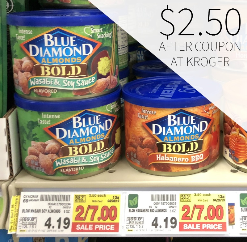 Blue Diamond Almonds Just $2.50 Per Can At Kroger