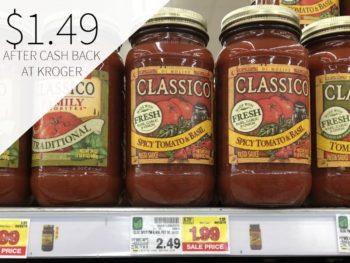 Classico Pasta Sauce Just $1.49 At Kroger