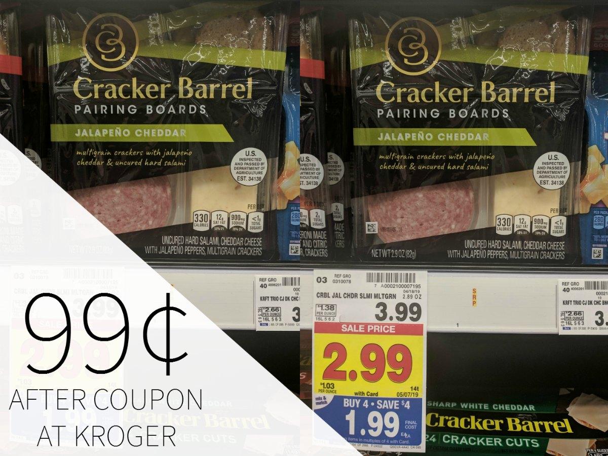 Cracker Barrel Pairing Boards Just 99¢ During Kroger Mega Sale
