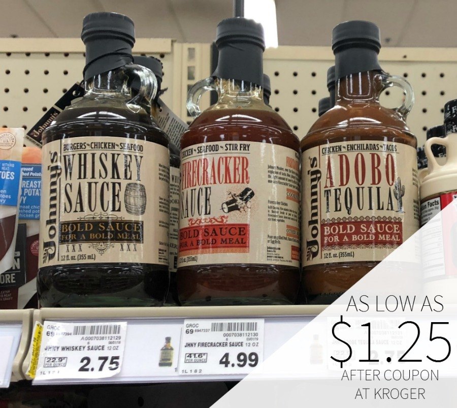 Johnny's Cooking Sauces As Low As $1.25 At Kroger