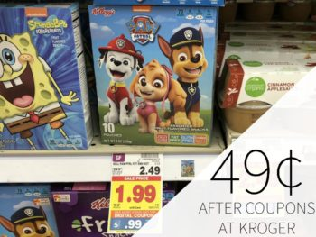 Kellogg's Fruit Snacks Just 49¢ At Kroger