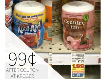 Kool Aid, Country Time or Tang Canisters Just 99¢ At Kroger