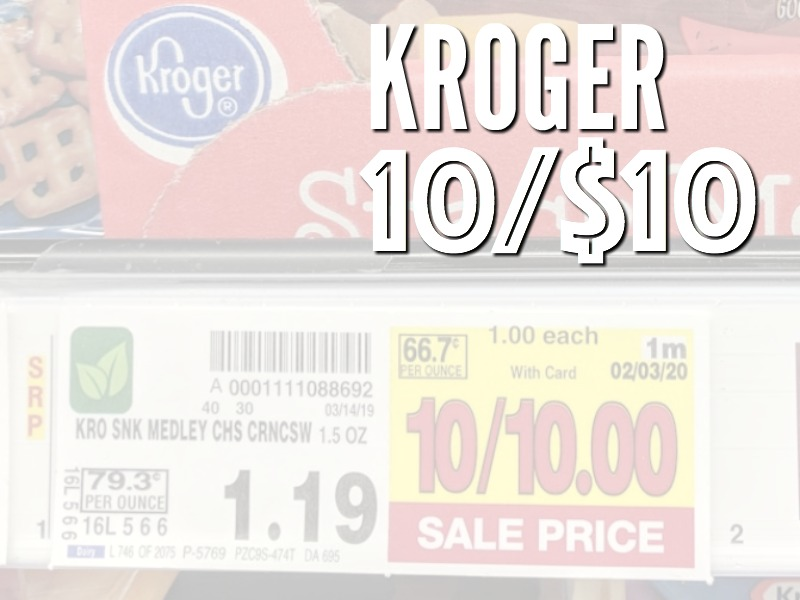 Kroger 10/$10 Deals For The Week Starting 4/25