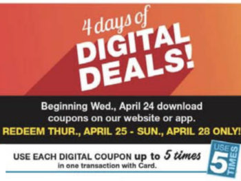 Load Your Coupons For The 4 Days Of Digital Deals
