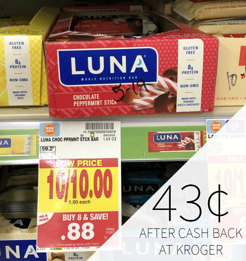 Luna Bars As Low As 43¢ Each At Kroger