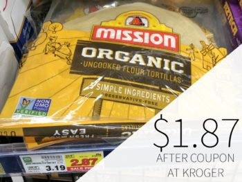 Mission Organic Uncooked Flour Tortillas Just $1.87 At Kroger