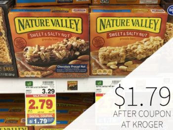 Nature Valley Granola Bars Just $1.79 At Kroger