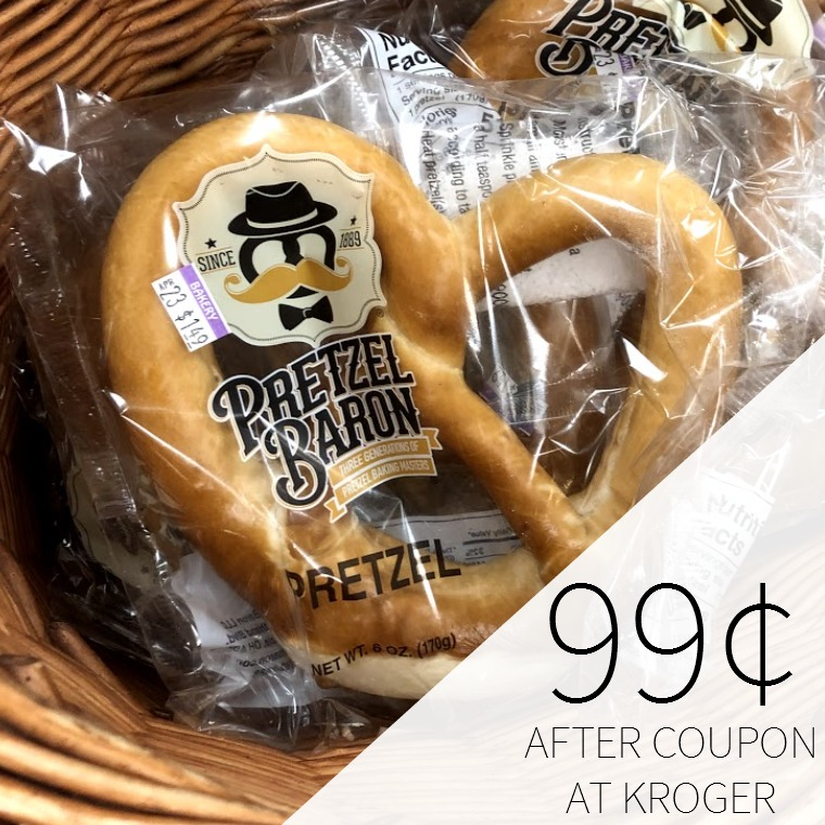 Pretzel Baron Soft Pretzel Just 99¢ At Kroger