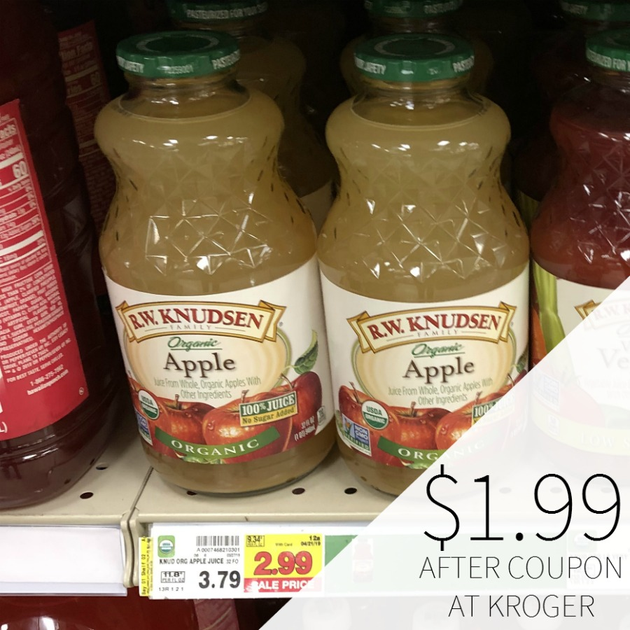 R.W. Knudsen Organic Apple Juice Just $1.99 At Kroger