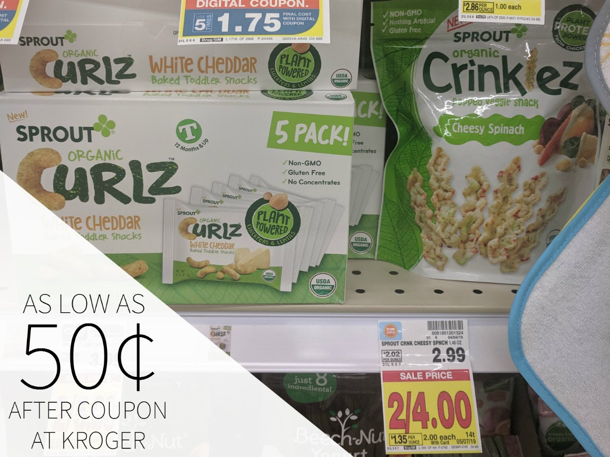 Sprout Organic Toddler Snacks As Low As 50¢ Each At Kroger