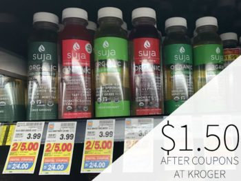 Suja Juice Just $1.50 At Kroger