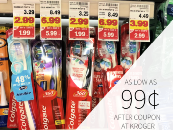 Colgate Toothbrush & Toothpaste Only 99¢ At Kroger