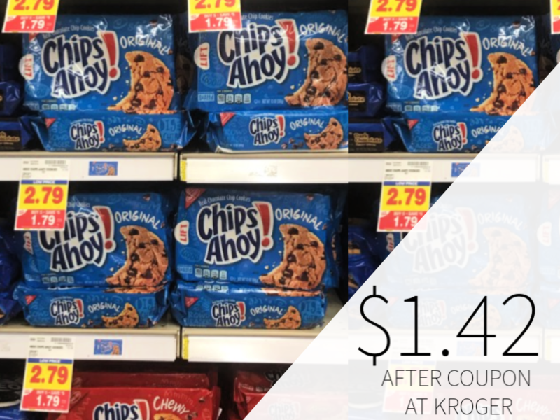 graphic about Chips Ahoy Coupons Printable named Nabisco Chips Ahoy! Cookies Merely $1.42 All through The Kroger