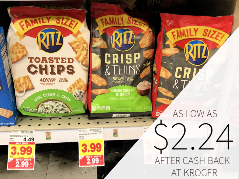 Ritz Crisp & Thins Or Toasted Chips