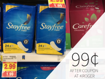 Stayfree Or Carefree Only 99¢ At Kroger