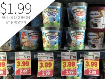 Ben & Jerry's Ice Cream Just $1.49 During The Kroger Mega Sale