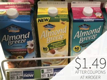 Blue Diamond Almond Breeze With Real Bananas Just $1.49 At Kroger