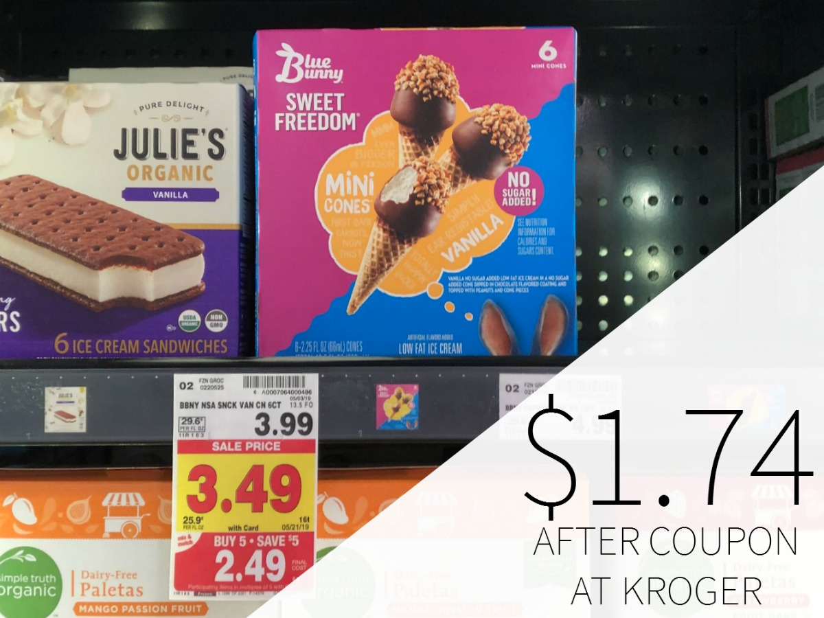 Blue Bunny Ice Cream As Low As $1.74 During The Kroger Mega Sale