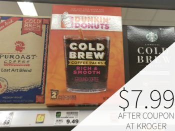 Dunkin' Donuts Cold Brew Coffee Just $7.99 At Kroger