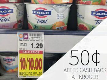Fage Total Just 50¢ At Kroger
