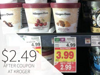 Haagen-Dazs Ice Cream Just $2.49 During The Kroger Mega Sale