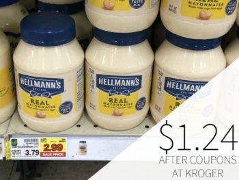 Hellmann's Mayonnaise Just $1.24 At Kroger