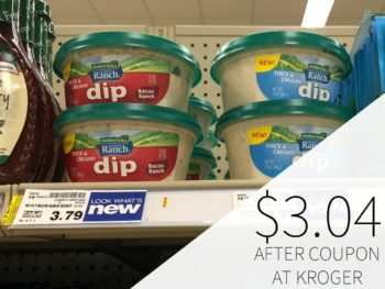 Hidden Valley Thick & Creamy Dips Only $3.04 At Kroger
