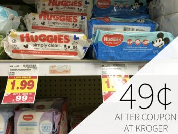 New Huggies Coupons For The Kroger Mega Sale - Wipes Just 49¢