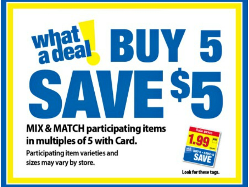 Kroger What A Deal Buy 5 Save 5 Mega Sale Full Inclusion List