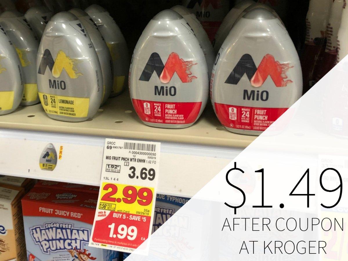 Mio Water Enhancer Just .49 Each During The Kroger Mega Sale