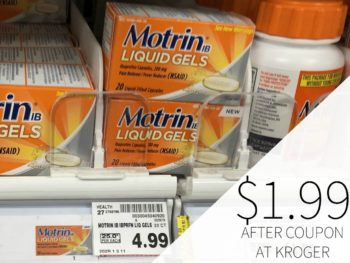 New Motrin Coupon - Liquid Gels Just $1.99