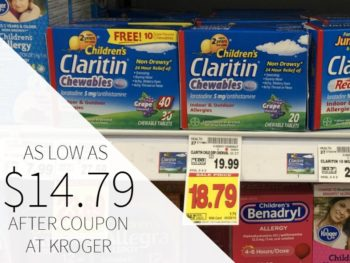 New Claritin Coupons - Allergy Meds As Low As $14.79 At Kroger 1