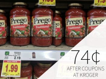 Prego Pasta Sauce Just 74¢ Each Friday & Saturday Only