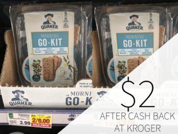 Quaker Morning Go-Kit Just $2 At Kroger
