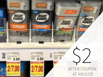 Right Guard Xtreme Defense Deodorant Only $