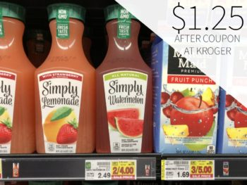 Simply Watermelon Juice Drink Just $1.25 At Kroger