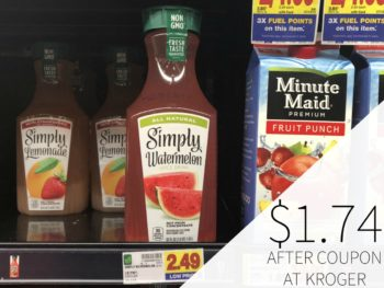 New Simply Watermelon Coupon - Juice Just $1.74 At Kroger