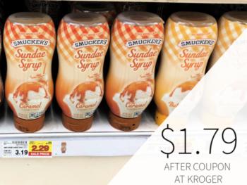 Smucker's Sundae Syrup Only $1.79 At Kroger