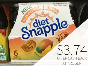 Snapple Takes 2 To Mango Tea Just $3.74 During The Kroger Mega Sale