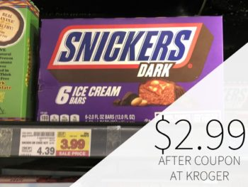 Snickers Ice Cream Bars Just $2.99 Each At Kroger