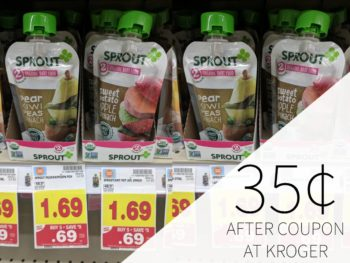 Sprout Organic Baby Food Pouches Just 35¢ During The Kroger Mega Sale