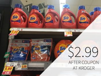 Tide Detergent And Pods Only $2.99 During The Kroger Mega Sale